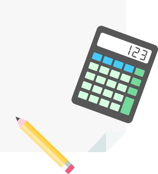 Blank paper with a calculator and pencil | Adulting budget with Goodbudget